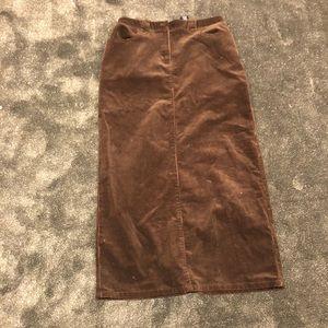 Vintage Long corduroy skirt